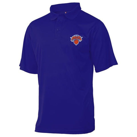 New York Knicks Majestic Blue Performance Short Sleeve Golf Polo Shirt