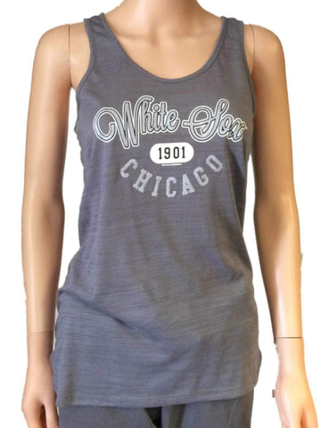 Shop Chicago White Sox SAAG Women Gray Racerback Sleeveless Tri-Blend Tank Top
