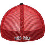 Boston Red Sox 47 Brand Navy Red Taylor Closer Mesh Stretch Fit Slouch Hat Cap