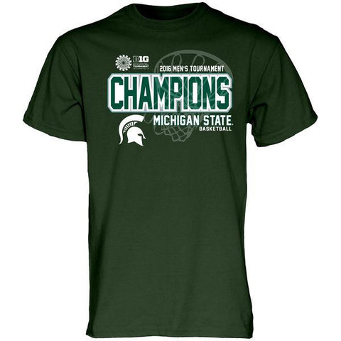 Michigan State Spartans Youth 2016 Big 10 Basketball Champs Locker Room T-Shirt