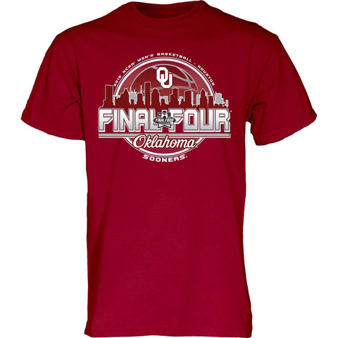 Oklahoma Sooners Blue 84 2016 Final Four Basketball Houston Skyline T-Shirt