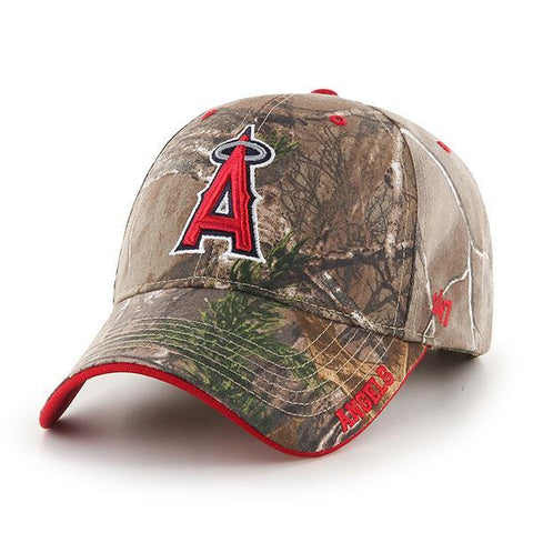 Los Angeles Angels 47 Brand Realtree Camo Frost MVP Adjustable Hat Cap