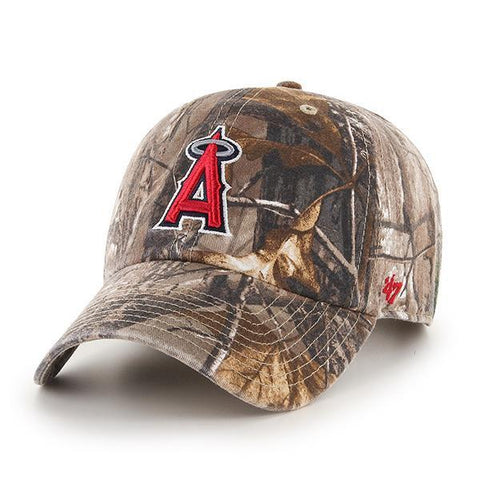 Los Angeles Angels 47 Brand Realtree Camo Clean Up Slouch Adjustable Hat Cap