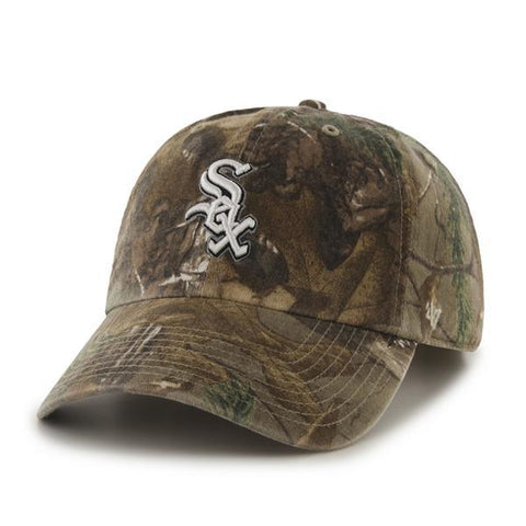 Chicago White Sox 47 Brand Realtree Camo Clean Up Slouch Adjustable Hat Cap - Sporting Up