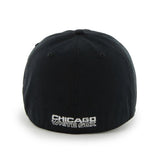 "Chicago White Sox 47 Brand Black Franchise ""Sox"" Fitted Slouch Hat Cap"