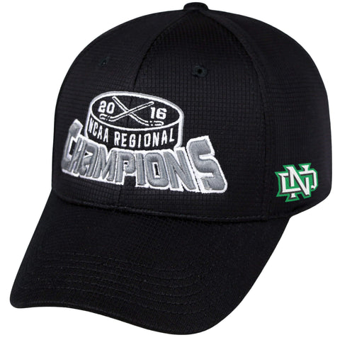 North Dakota Fighting Hawks 2016 Frozen Four Regional Champs Locker Room Hat Cap - Sporting Up