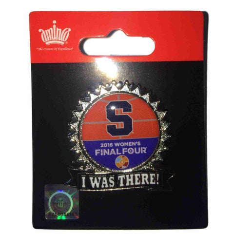 "Syracuse Orange 2016 Womens NCAA Final Four ""I Was There"" Collectible Lapel Pin"