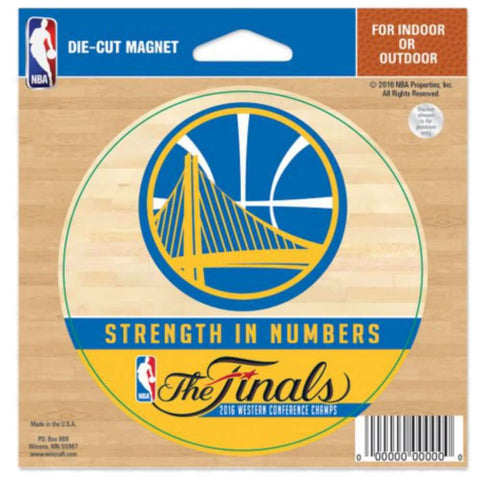 "Golden State Warriors Wincraft 2016 Finals Conference Champs Die-Cut Magnet (4"")"