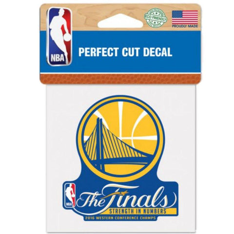 "Golden State Warriors Wincraft 2016 Finals Western Conf Champs Decal (3.5"")"