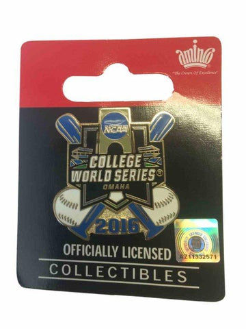 2016 NCAA Omaha College World Series CWS Aminco Crossed Bats Metal Lapel Pin