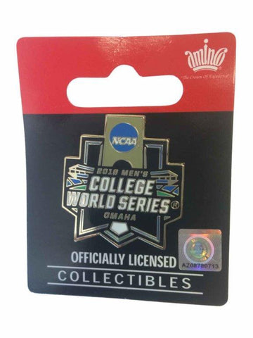 2016 NCAA Omaha Men's College World Series CWS Aminco Black Metal Lapel Pin