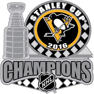 Pittsburgh Penguins 2016 Stanley Cup Champions Trophy Large Metal Lapel Pin