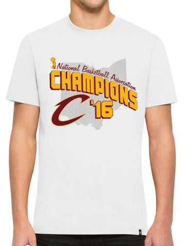 Shop Cleveland Cavaliers 47 Brand 2016 NBA Finals Champions White Flanker T-Shirt