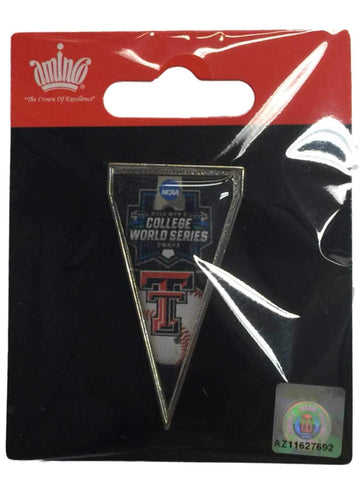 Texas Tech Red Raiders 2016 NCAA Omaha College World Series Pennant Lapel Pin