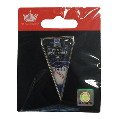 UCSB Gauchos 2016 NCAA Omaha College World Series Pennant Metal Lapel Pin