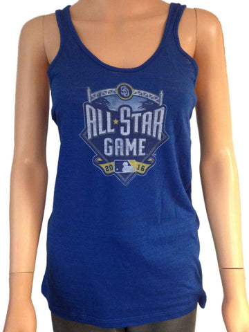 Shop 2016 MLB All-Star Game San Diego SAAG Women Blue Light Tri-Blend Tank Top - Sporting Up