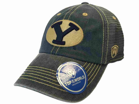 BYU Cougars TOW Navy Gray Past Mesh Adjustable Snapback Slouch Hat Cap