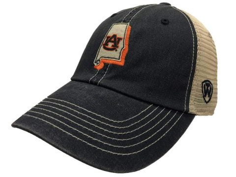 Auburn Tigers TOW Gray United Mesh Adjustable Snapback Slouch Hat Cap