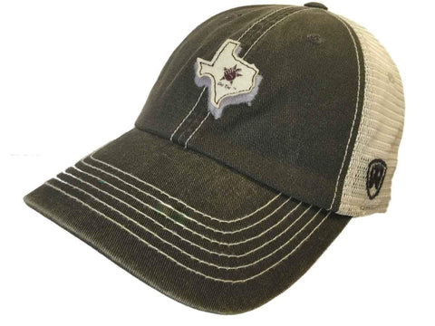 Texas A&M Aggies TOW Gray United Mesh Adjustable Snapback Slouch Hat Cap