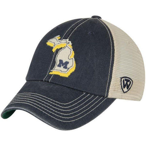 Michigan Wolverines TOW Gray United Mesh Adjustable Snapback Slouch Hat Cap