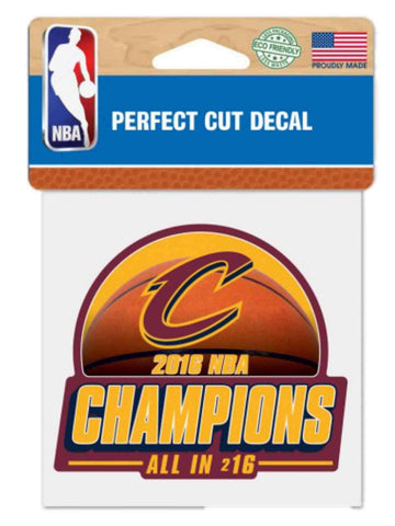 "Cleveland Cavaliers 2016 NBA Champions ""ALL IN 216"" Perfect Cut Color Decal"