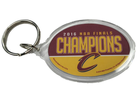 Cleveland Cavaliers 2016 NBA Champs Red & Yellow Two Sided Oval Acrylic Keychain