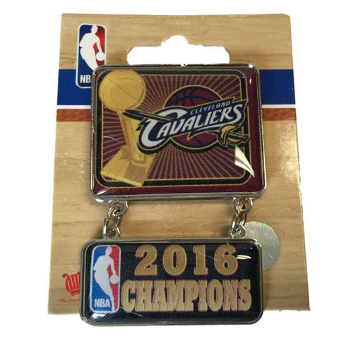 Shop Cleveland Cavaliers 2016 NBA Champions Aminco Wine Red Dangler Metal Lapel Pin