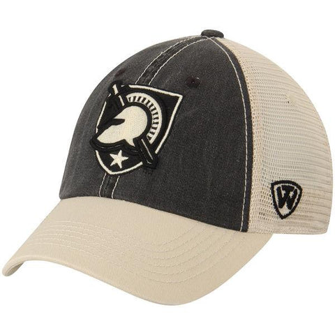 Shop Army Black Knights TOW Black Beige Offroad Adjustable Snapback Mesh Hat Cap