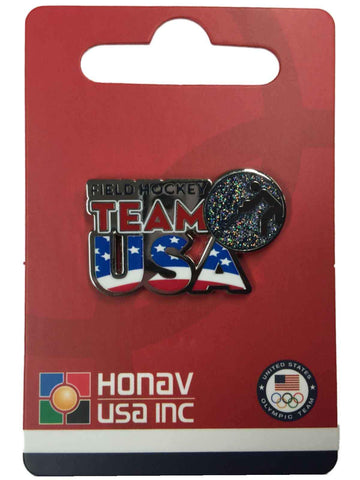 "Shop 2016 Summer Olympics Rio Brazil ""Team USA"" Field Hockey Pictogram Lapel Pin - Sporting Up"