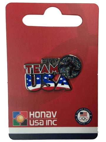 "2020 Summer Olympics Tokyo Japan ""Team USA"" Rugby Pictogram Metal Lapel Pin"