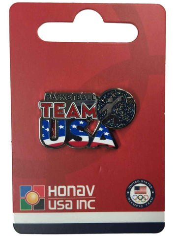 "Shop 2016 Summer Olympics Rio Brazil ""Team USA"" Basketball Pictogram Metal Lapel Pin - Sporting Up"