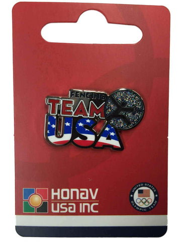 "2020 Summer Olympics Tokyo Japan ""Team USA"" Fencing Pictogram Metal Lapel Pin"
