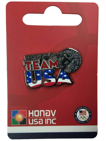 "2016 Summer Olympics Rio Brazil ""Team USA"" Pentathlon Pictogram Metal Lapel Pin - Sporting Up"