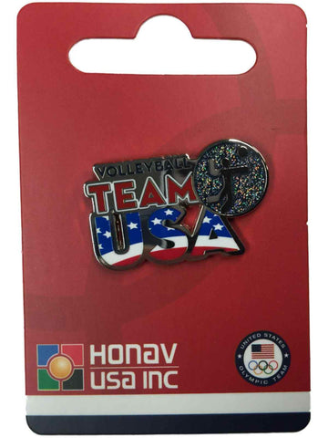 "2020 Summer Olympics Tokyo Japan ""Team USA"" Volleyball Pictogram Metal Lapel Pin"