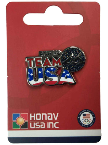 "2016 Summer Olympics Rio Brazil ""Team USA"" Rowing Pictogram Metal Lapel Pin - Sporting Up"
