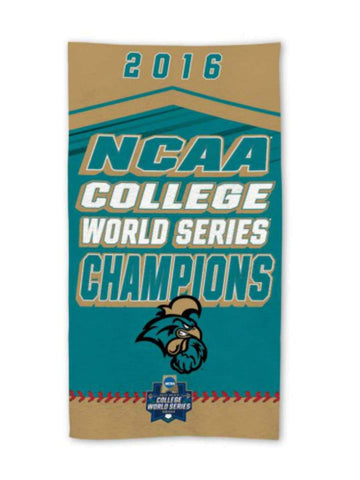 Coastal Carolina Chanticleers 2016 Baseball CWS Champs Locker Room Bench Towel