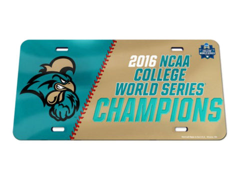 Shop Coastal Carolina Chanticleers 2016 Omaha Baseball CWS Champions License Plate - Sporting Up