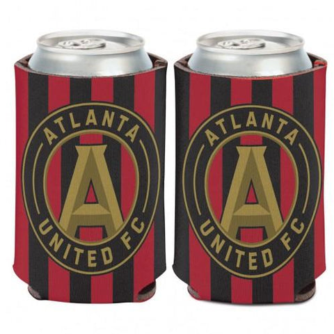 Atlanta United FC WinCraft Red & Black Striped Circular Logo Can Cooler