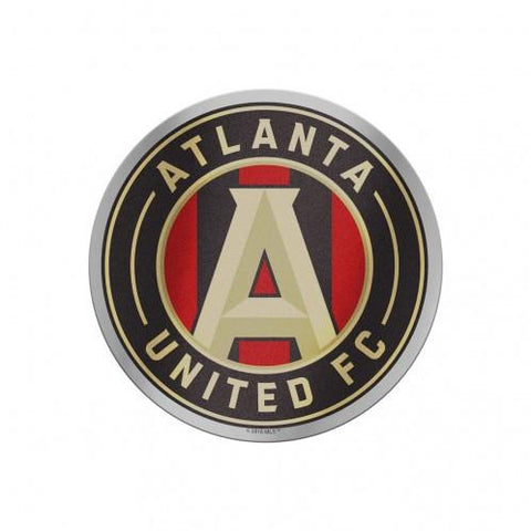 "Shop Atlanta United FC WinCraft Red & Black Circular Logo Auto Badge Decal 4"" x 4"""