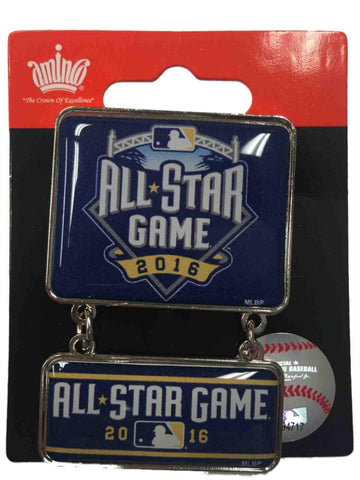 2016 All-Star Game San Diego Aminco Blue & Yellow Collectible Dangler Lapel Pin