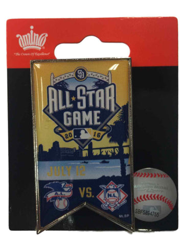 2016 All-Star Game San Diego Aminco Yellow & Blue Collectible Banner Lapel Pin