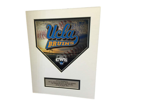 "UCLA Bruins Ready to Frame 2012 CWS ""Die Cut Homeplate"" Picture 11"" x 14"""