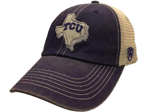 TCU Horned Frogs TOW Purple United Mesh Adjustable Snapback Slouch Hat Cap