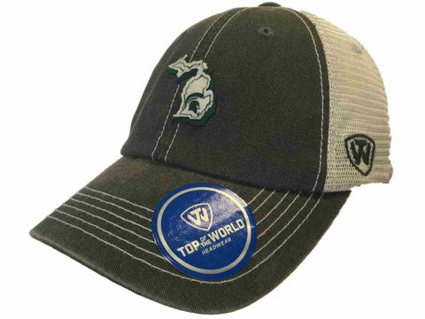 Michigan State Spartans TOW Gray United Mesh Adjustable Snapback Hat Cap