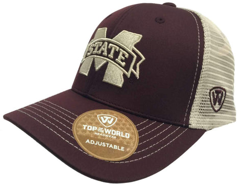 quality design 88f29 a1792 Shop Mississippi State Bulldogs TOW Red Ranger Mesh Adjustable Snapback Hat  Cap