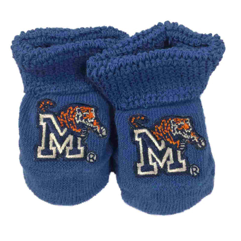 Memphis Tigers Two Feet Ahead Infant Baby Newborn Royal Blue Socks Booties