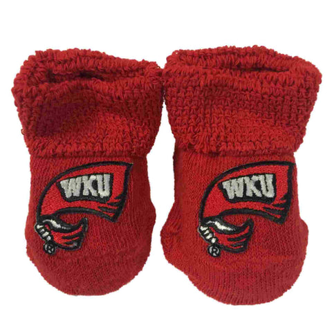 Western Kentucky Hilltoppers Two Feet Ahead Infant Baby Newborn Socks Booties