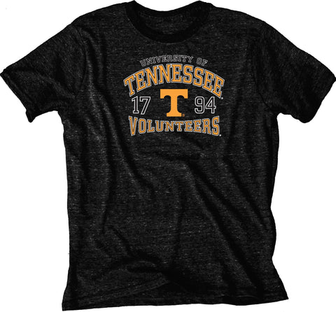 Tennessee Volunteers Blue 84 Charcoal Soft Tri-Blend Short Sleeve T-Shirt