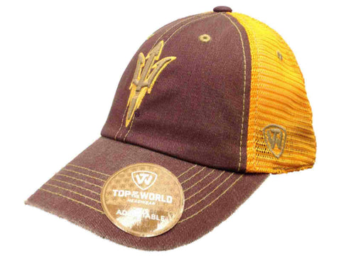 Arizona State Sun Devils TOW Maroon Gold Past Mesh Adjustable Snapback Hat Cap