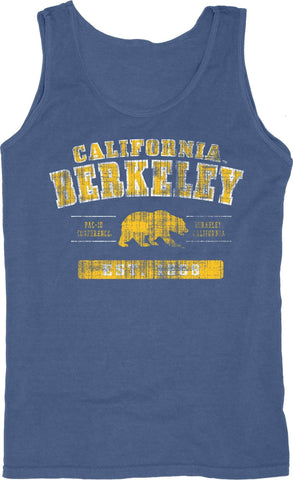 California Golden Bears Blue 84 Light Blue 100% Cotton Sleeveless Tank Top